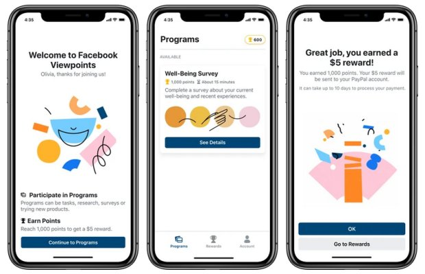 Facebook Viewpoints wants your data, this time you will get pay for surveys.