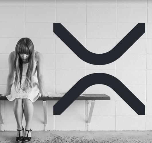XRP logo with sad girl
