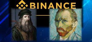 NFT by Leonardo da Vinci and Van Gogh in Binance