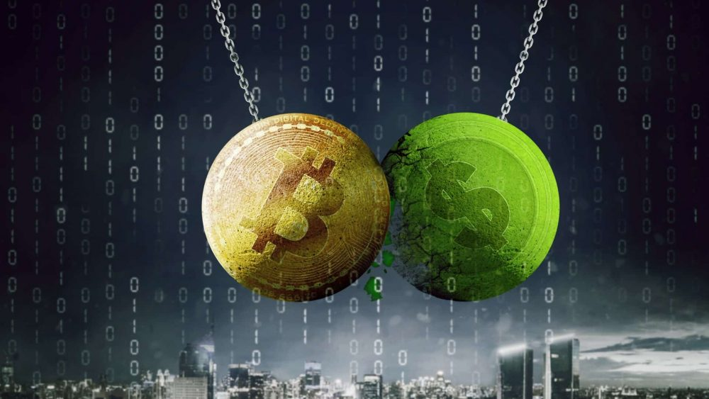 Did the rising dollar trend cause the price of BTC and gold to fall sharply?