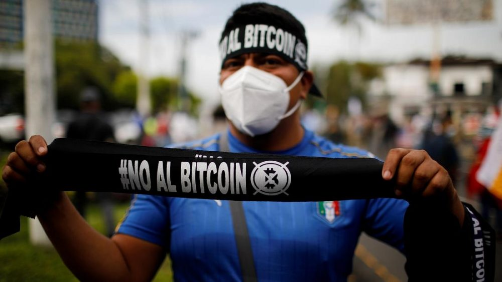 Protests against the BTC filled the streets of El Salvador